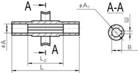 Редуктор червячный одноступенчатый универсальный, тип 1Ч. 1Ч-63. Присоединительные размеры полого вала со шпоночным пазом. Выходного.