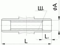Редуктор червячный одноступенчатый универсальный, тип 1Ч. 1Ч-160. Присоединительные размеры полого шлицевого выходного вала.