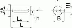 Редуктор червячный одноступенчатый универсальный, тип 2Ч и 2ЧМ. 2Ч-40 и 2ЧМ-40. Присоединительные размеры цилиндрического конца входного вала.
